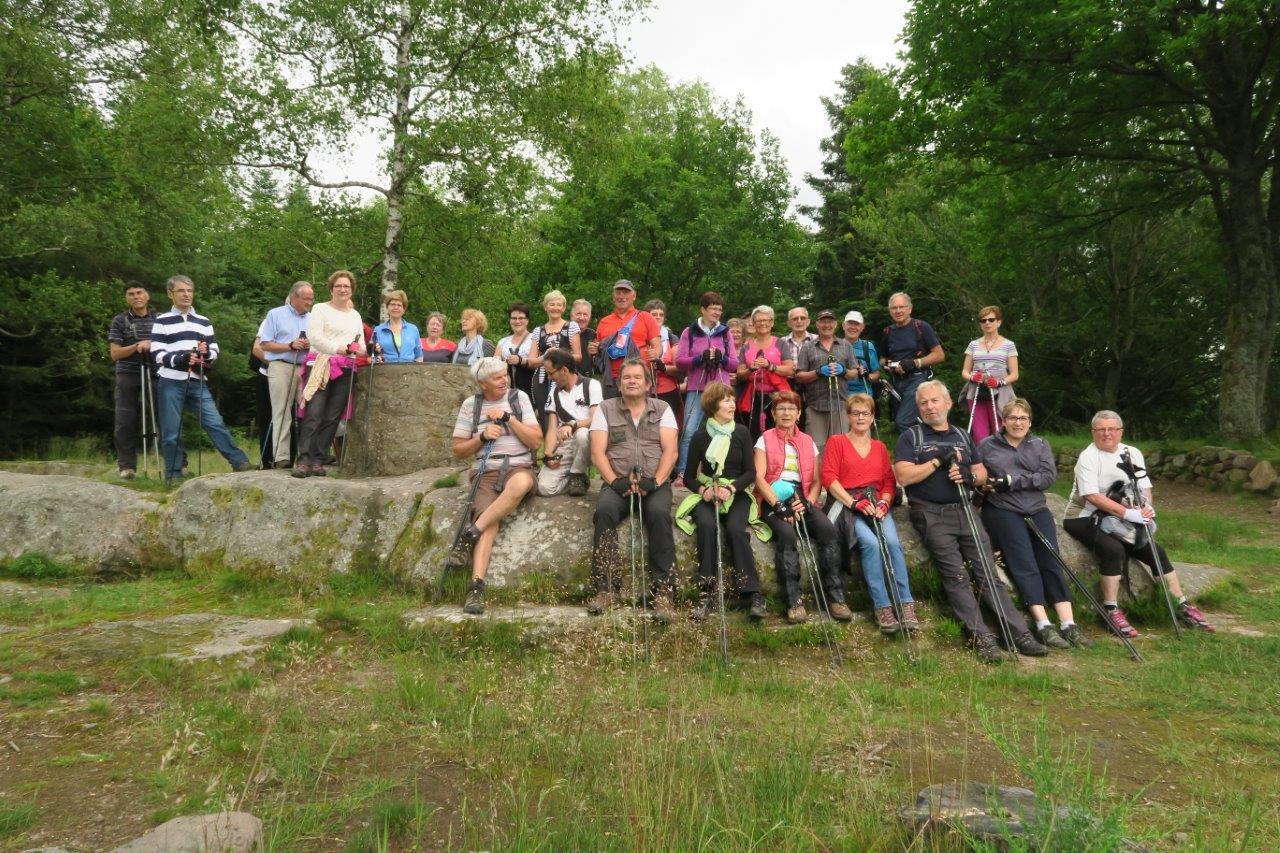 Marche nordique. Camp celtique de la Bure. 27 juin 2016