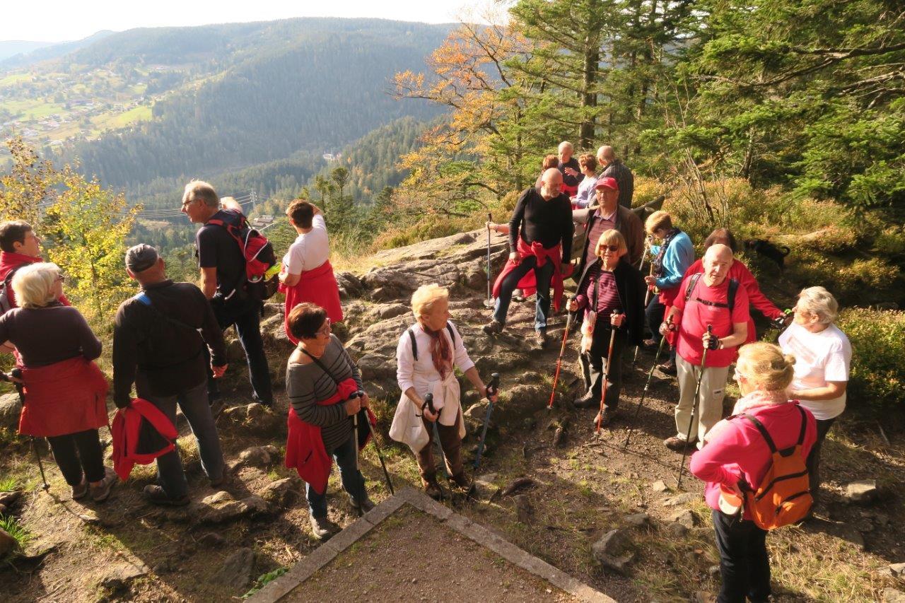 Photo du haut de la roche des Bruyères