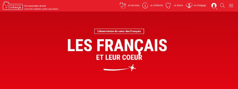 Bandeau du site de la Fédération Française de Cardiologie