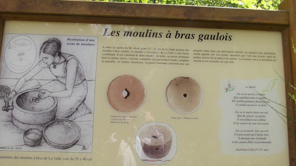 panneau d'information du sentier