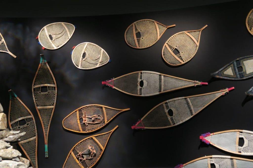Photo de raquettes amérindiennes - Musée de la Civilsation de Québec