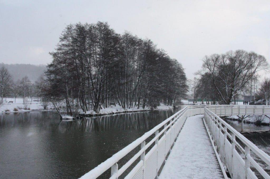 Photo de la Vanne de Pierre sous la neige
