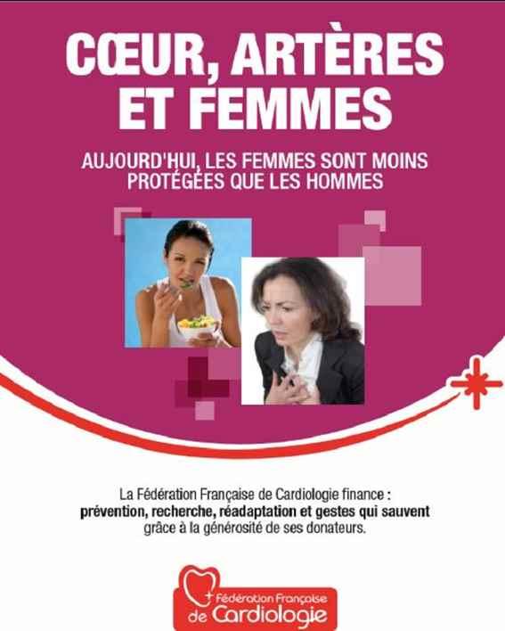 Première page de la brochure Cœur, artères et femmes