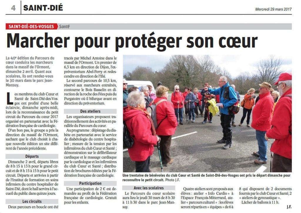 Article de Vosges Matin - 29-3-2017