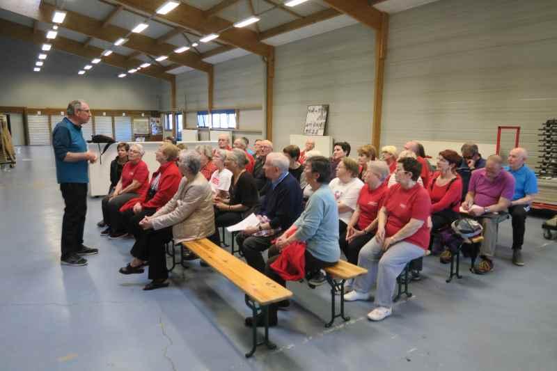 Photo de la réunion des bénévoles le 27 mars