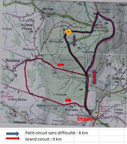 Carte des itinéraires