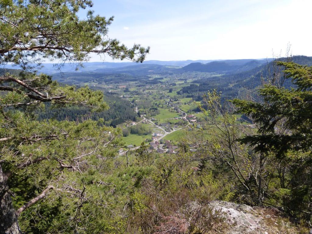 Vue panoramique depuis les Grandes Roches