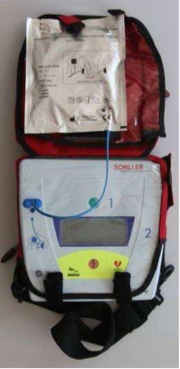 Photo d'un défibrillateur