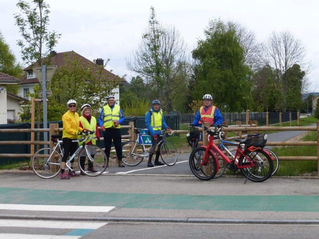 Les cyclistes sur la voie vert le 4 mai 2017