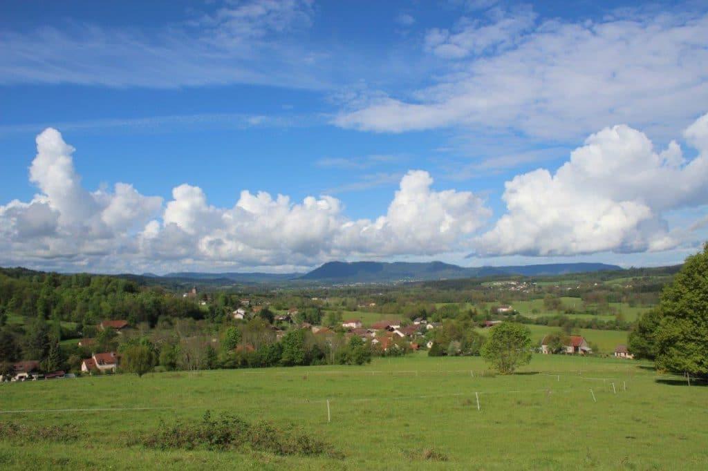 Vue vers Bertrimoutier et le Massif du Kemberg