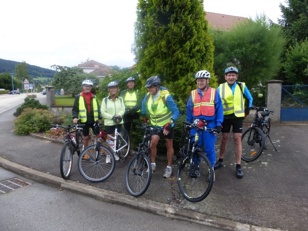 Photo des participants de la sortie vélo du 27 juillet