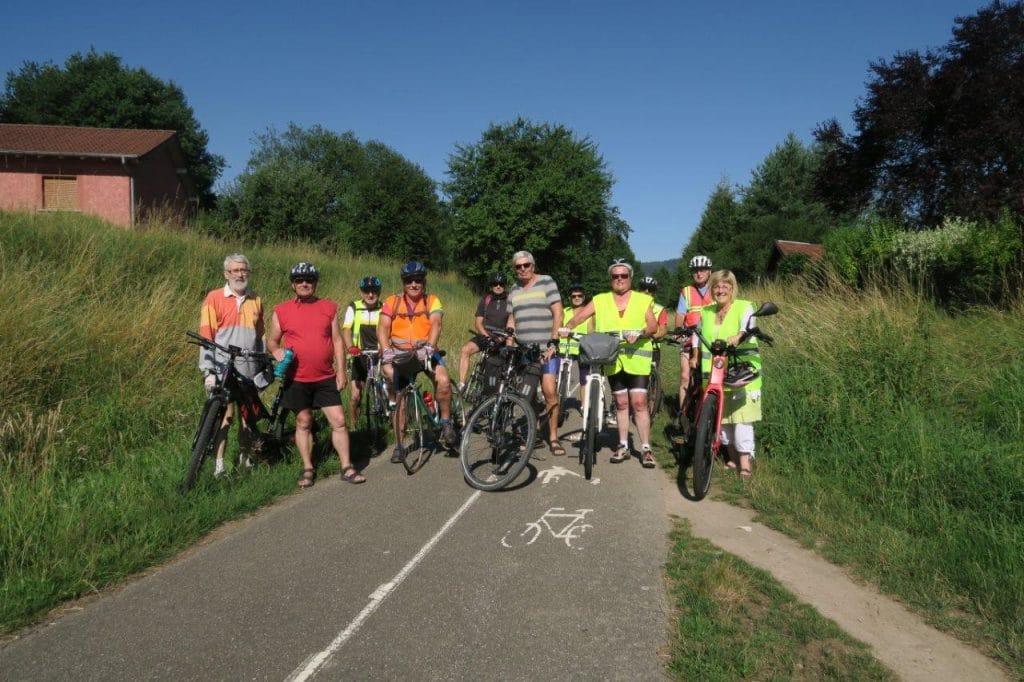 Photo des cyclistes