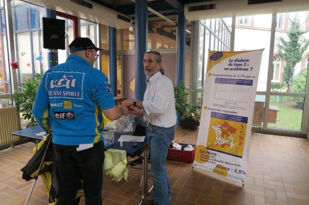 Dépistage du Diabète par le Dr Dollet - Parcours du Cœur 2016