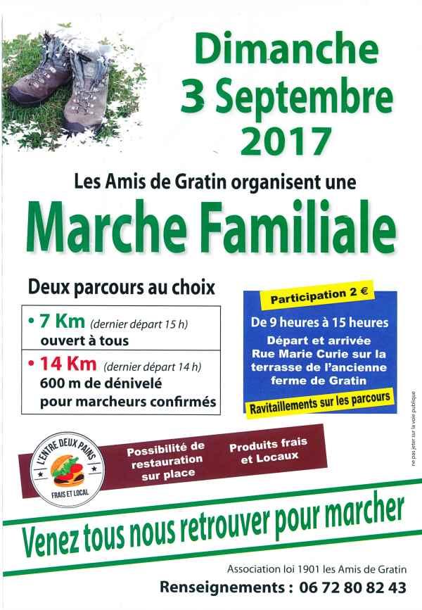 Affiche de la Marche des Amis de Gratin-9-9-2017