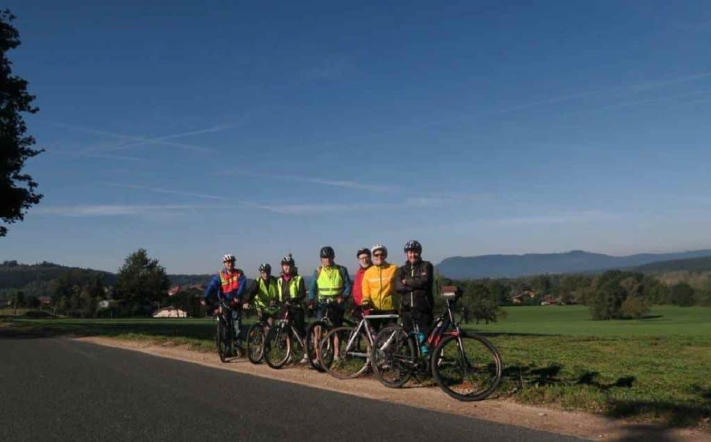 Photo du groupe de cyclistes
