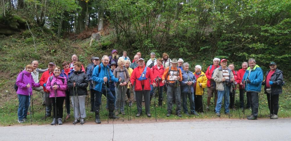 Photo du groupe dans la forêt