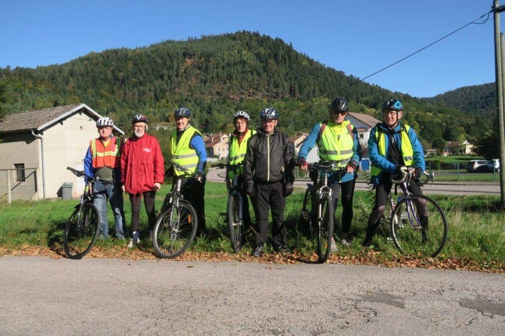 le groupe des cyclistes