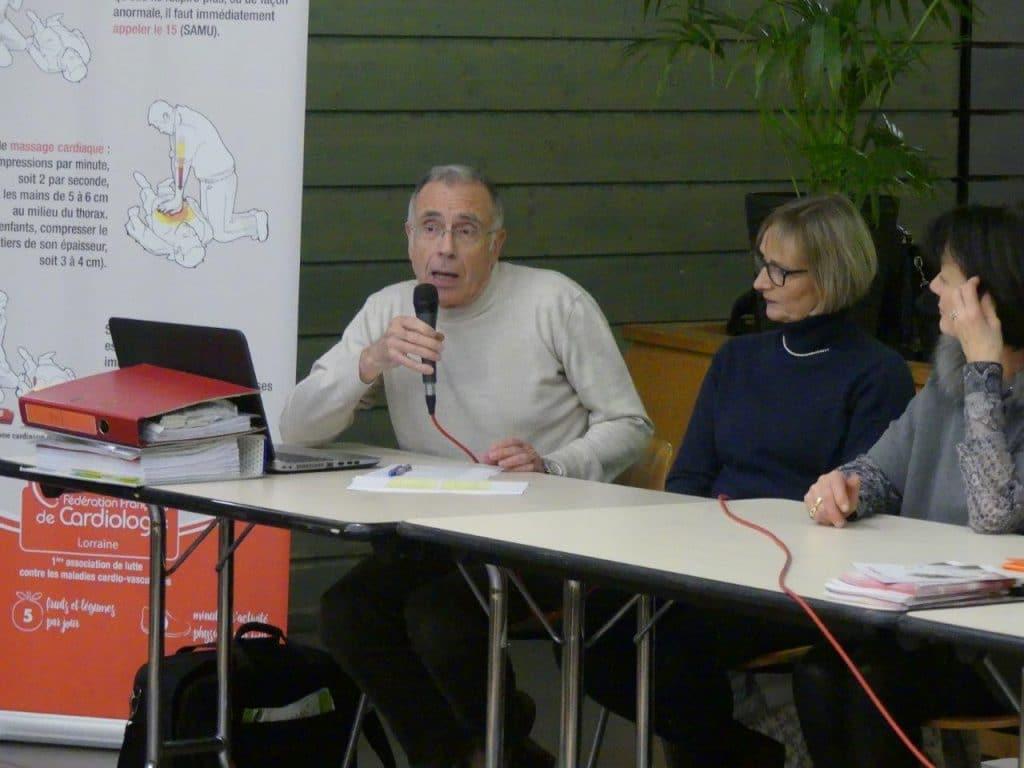 Photo de Jean-Paul Besombes, Guilaine Bedel et Anne-Françoise Fernandes lors des rapports financiers