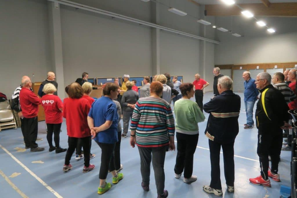 Photo des participants à la gymnastique