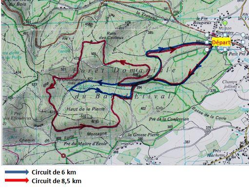 Plan des deux circuits