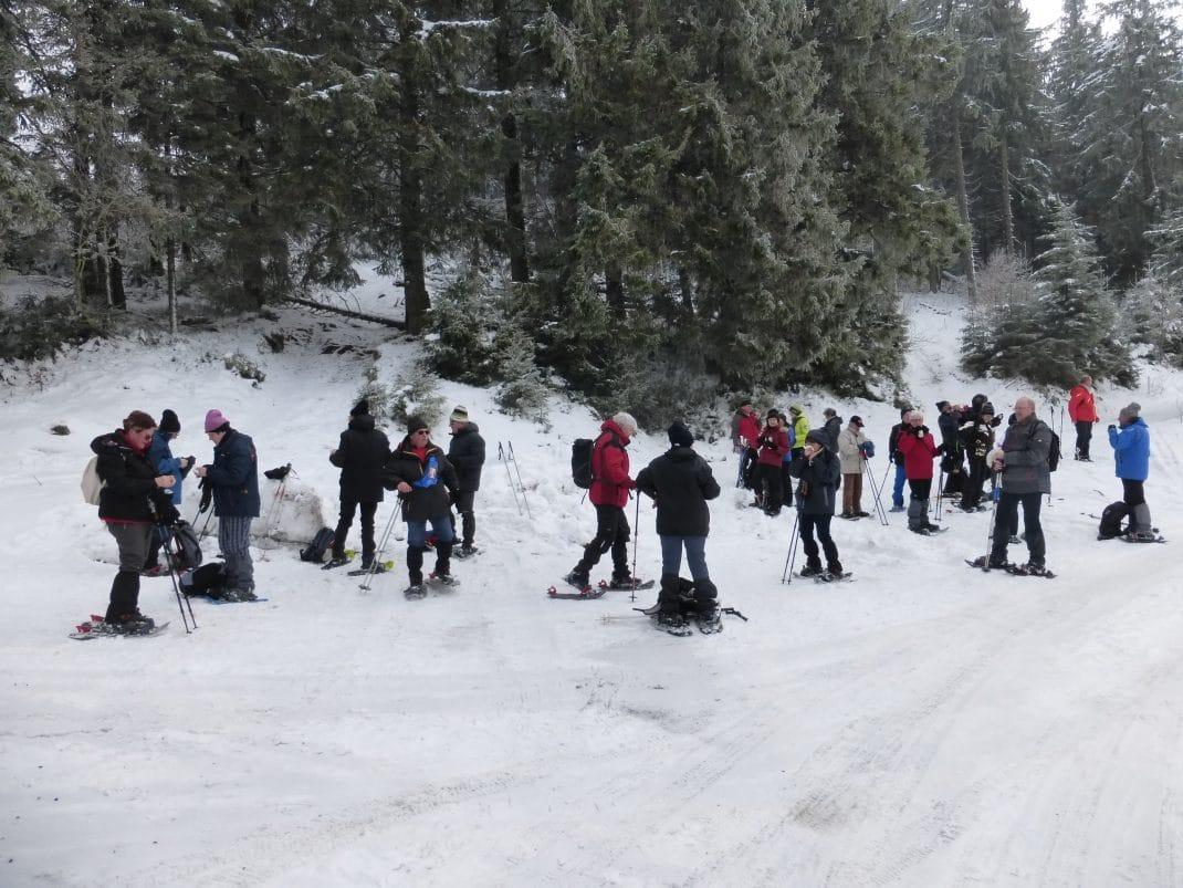 Photo de la pause au Col du Louschbach