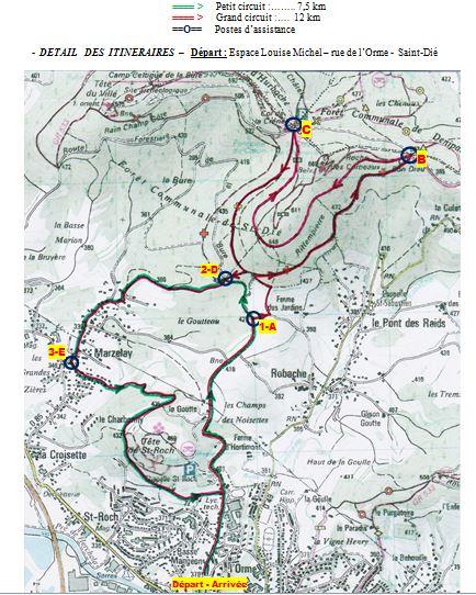 Plan des itinéraires