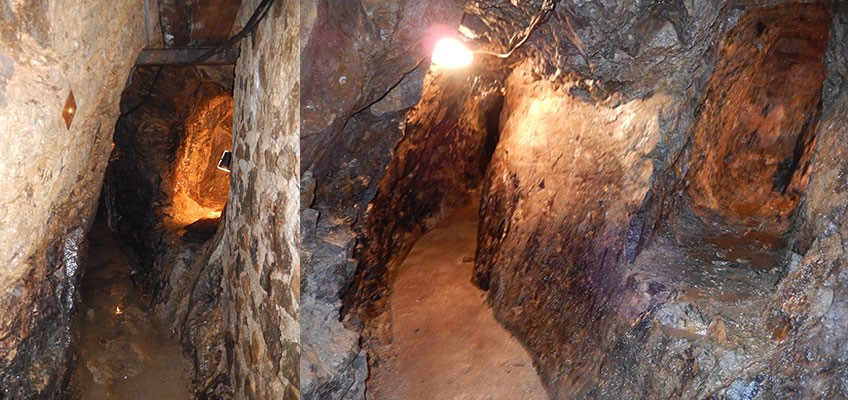 Photo d'une galerie de la mine de la Croix aux Mines