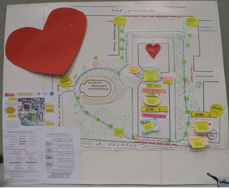 Plan du Parcours du Cœur Scolaire
