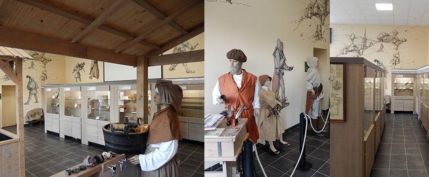 Photo de deux des salles du Musée de la Croix-aux-Mines
