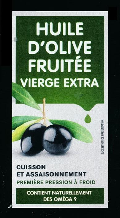 EEtiquette flacon huile d'olive