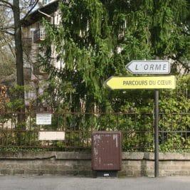 Photo du panneau de signalisation