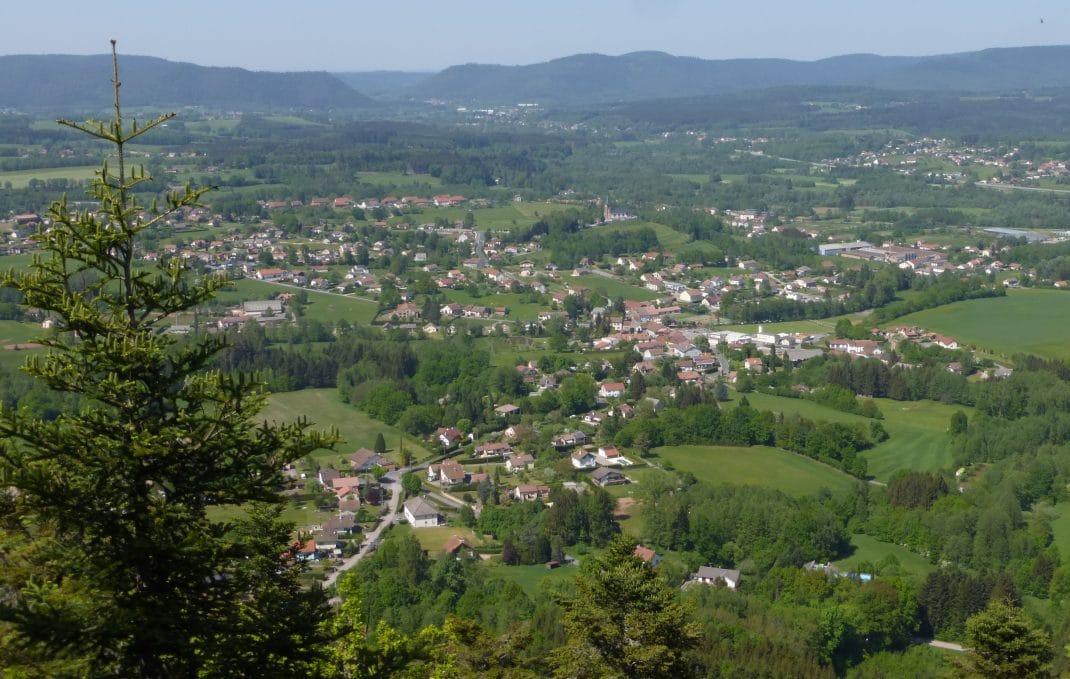 Vue panoramique depuis la Roche des Hauts Champs