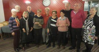 Photo des responsables du Club Cœur et Santé de Mondelange avec la délégation de Saint-Dié