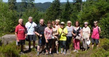 photo du groupe à la roche des Fées