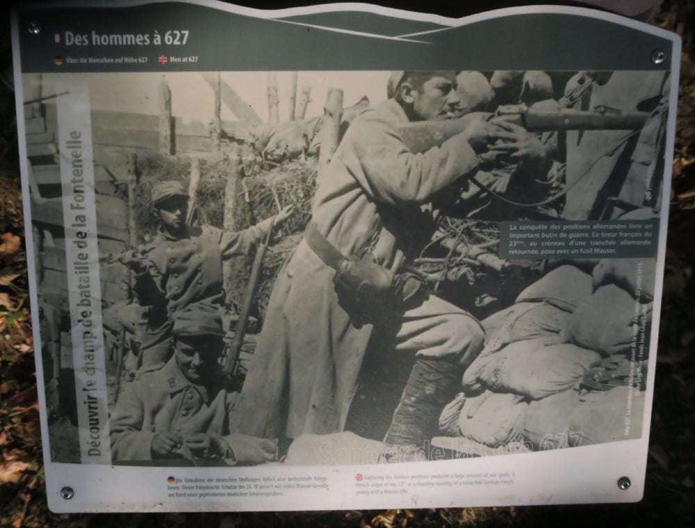 Photo de soldats dans une tranchée de la Côte 627