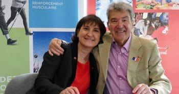 Photo de la Présidente de la FFC et du président de la FFA