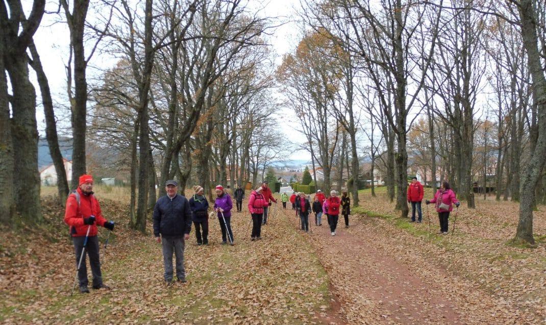 Les marcheurs au Haut de Chaumont