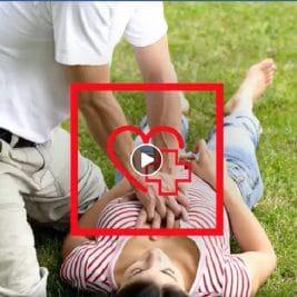 personne pratiquant un massage cardiaque