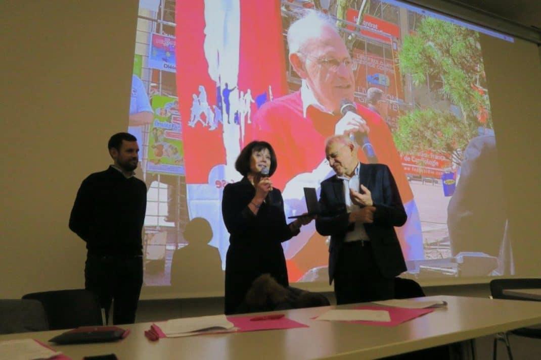 Erwan Martin, Anne-Françoise Fernandes et le Pr Etienne Aliot