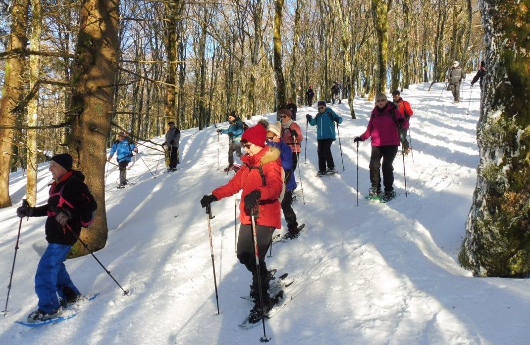 Photo des participants en hors-piste