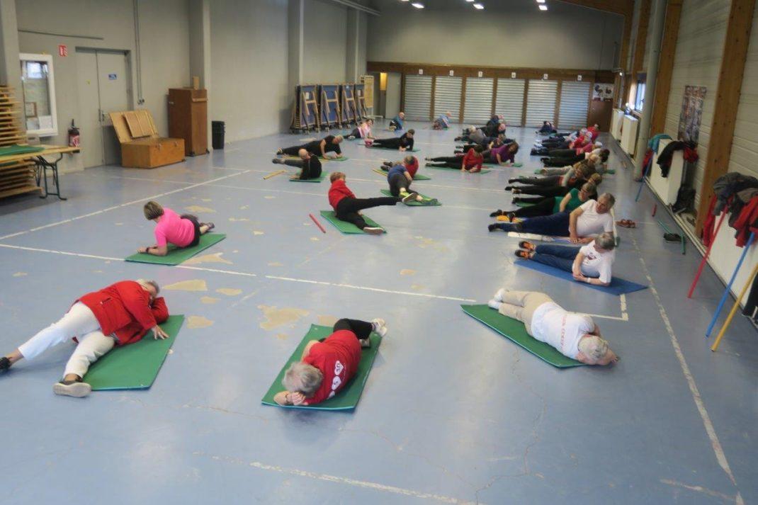 Photo du groupe lors des exercices au sol