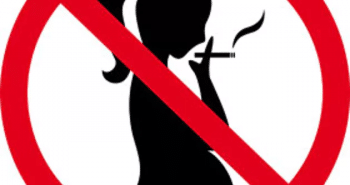Logo femme enceinte et tabac