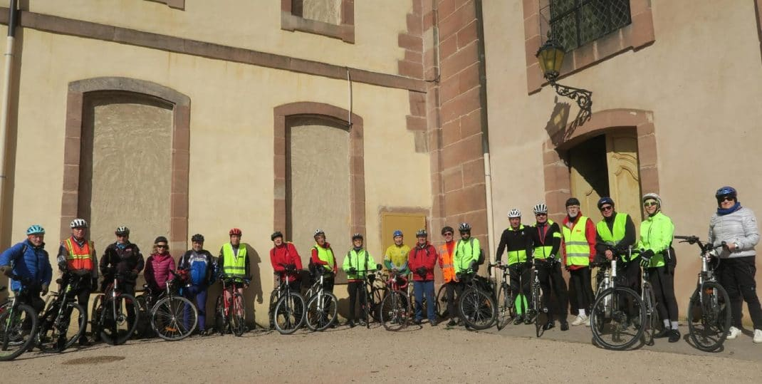 Photo du groupe de cyclistes