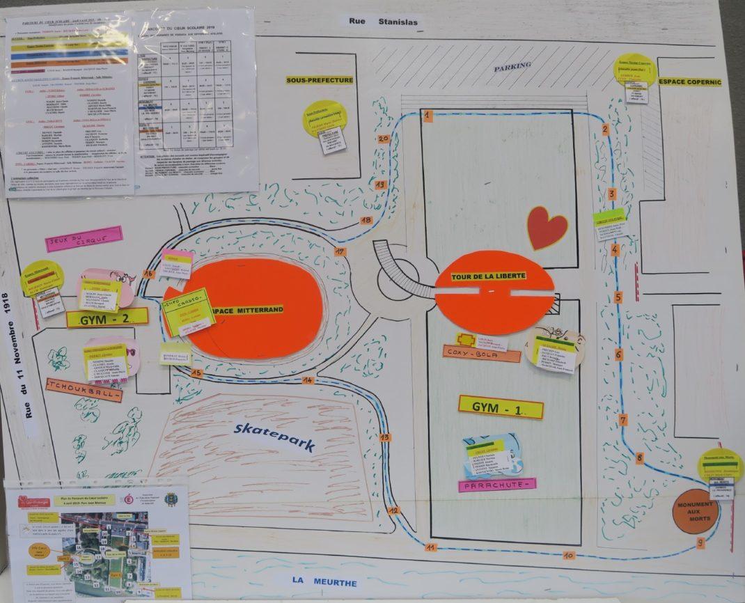 Photo du Plan du Parcours du Cœur Scolaire