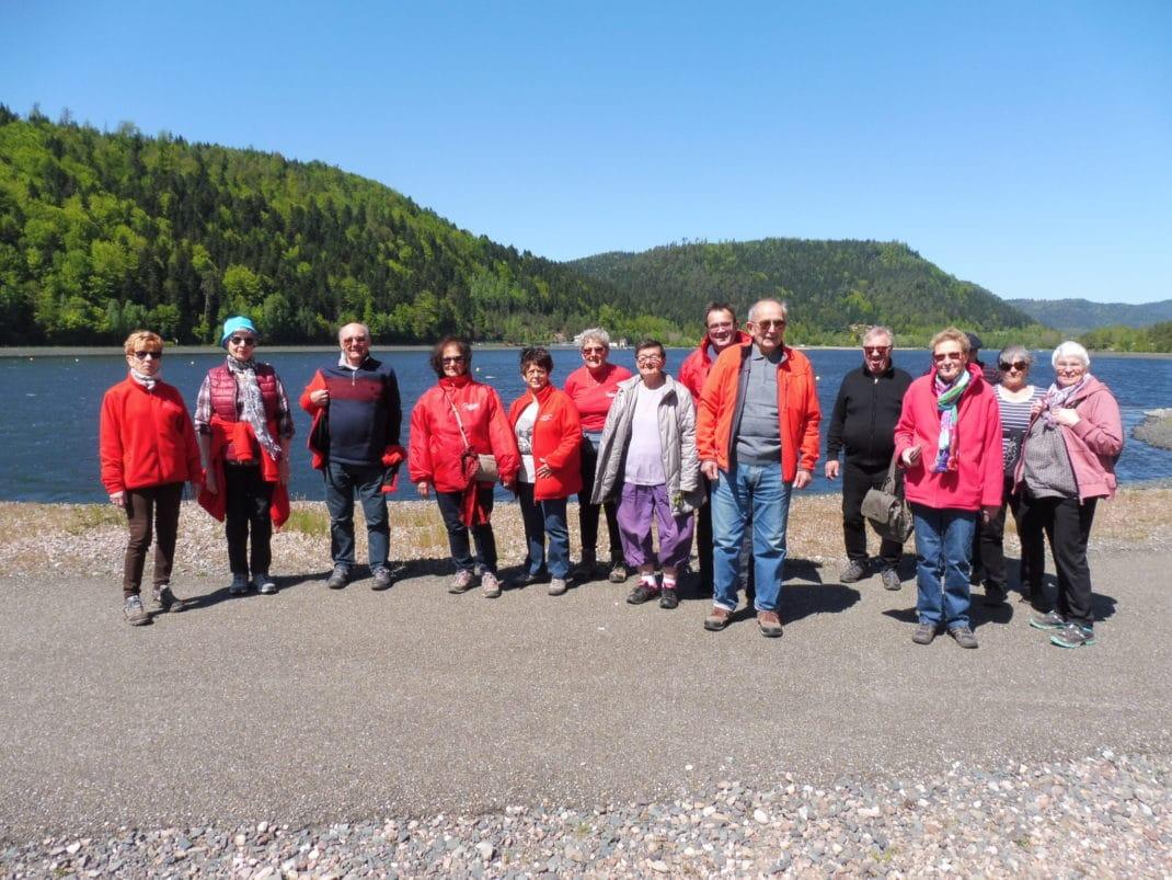 Le groupe de marcheurs au lac de la Plaine