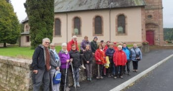Photo du groupe au départ de la Bourgonce