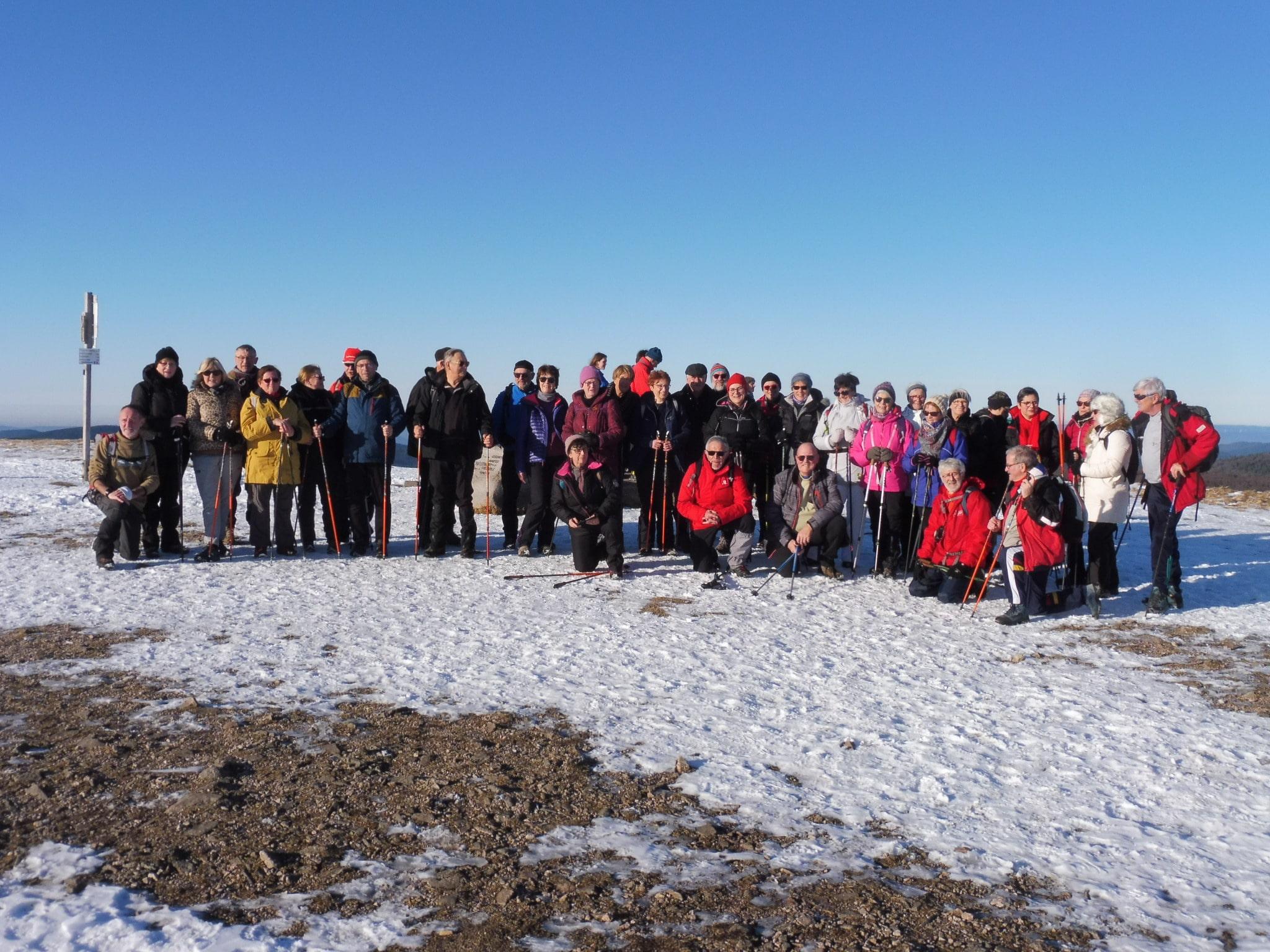 Les randonneurs au sommet du Hohneck