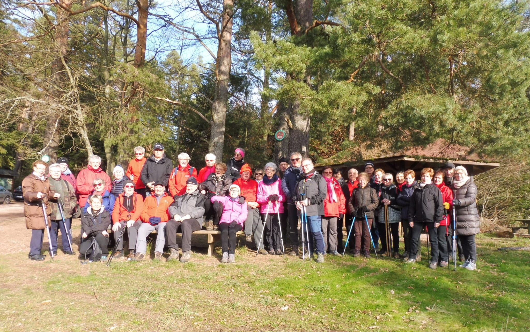 Photo du groupe au départ de lamarche du 26 janvier. 38 participants