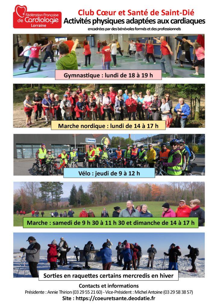 Affichette des Activités de Cœur et Santé-2020-2021