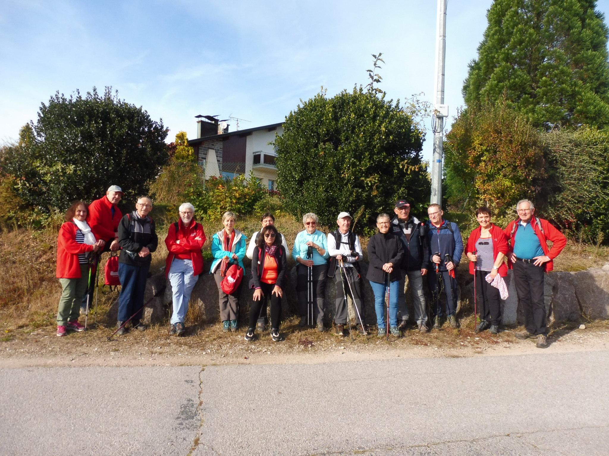 Photo du groupe à le Moncel